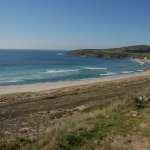 The nemina beach, Galicia.
