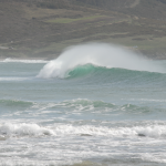 Wave capping on the Nemina beach, Galicia.